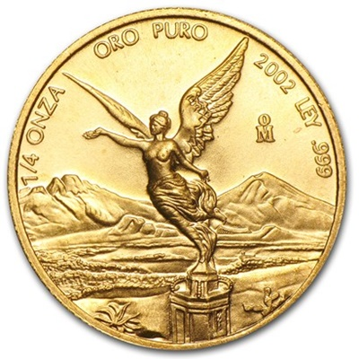 2002 Gold 1/4oz LIBERTAD